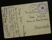 Slovenia 1945 Yugoslavia Partisan's Mail Croatia Crkvenica - Novo Mesto-Rare! C1