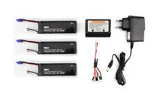 Hubsan H501S Lipo Batteries 2700mAh 3pcs+Charger Cable+Balance Charger EU Plug