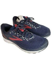 Brooks Men's Ghost 11 Navy/Red/White Athletic Running Shoes 11 D 1102881D428