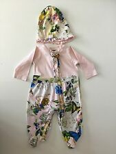 Roberto Cavalli  2 Piece Outfit Set Age 3 Months Suit & Hat Flowers