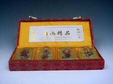 4 Peking Glass Inside Immortals Painted Snuff Bottles