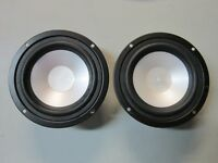 "NEW (2) 5.25""  Woofer Speaker Pair.Home Car Audio.5 1/4.4 ohm.five quarter inch"