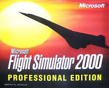 Flight Simulator 2000: Professional Edition (PC, 1999, Microsoft) PC Game