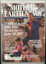 Mother Earth News Apr/May 1993 Build a Log Cabin/Tree Care/Buy a Pig