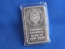 Johnson Matthey Republic Bank Silver 5 Oz Ingot B4441