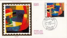 """Enveloppe 1er Jour CULAN 12/04/1986 Maurice ESTEVE """"skibet"""" timbrée"""