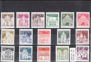 GERMANY 1964/9 ARCHITECTURE   DEFINITIVE SET    MNH VF