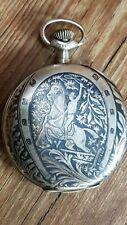 Ancienne montre à gousset dite savonnette  fonctionne