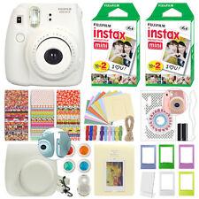 Fuji Instax Mini 8 Fujifilm Instant Film Camera White + 40 Film Deluxe Bundle