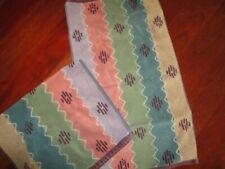 CELEBRITY SANTENS BLANKET STRIPE BRICK SOUTHWESTERN (2PC) HAND TOWELS SET 16X28