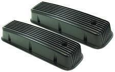 Aluminum Valve Covers Tall Black Finned 65-95 Big Block Chevy 396 402 427 454