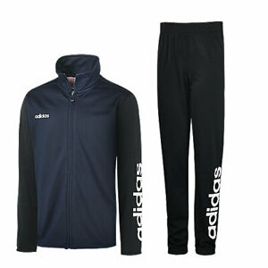 adidas Boys Tracksuit Youths Junior Size 15/16 Years Navy Black Top Bottoms NEW