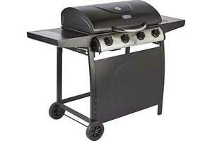 Spear and Jackson 4 Burner Gas Barbecue  WT 527 Black