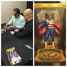 AUTOGRAPHED STING RINGSIDE COLLECTABLES DEFiNING MOMENTS FIGURE