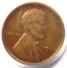 "1922 No D Lincoln Wheat Cent 1C (Weak Reverse) - PCGS XF40 - Rare ""Plain"" Penny!"