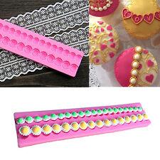 DIY Silicone Pearl Chain Cake Mould Fondant Sugar Craft Mold Decorating Tools