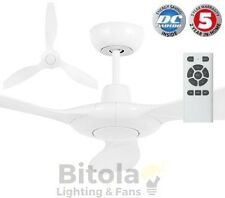 "NEW BRILLIANT CONCORDE 60"" WHITE LARGE DC CEILING FAN WITH REMOTE INDOOR/OUTDOOR"