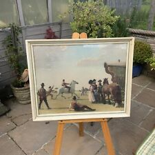 """Gypsy Life Alfred Munnings Print In Painted Frame 26x21"""" Gypsies Horses Glazed"""