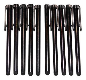 10x Schwarz Stylus Eingabestifte Touch Pen Stift Touch Tablet Handy Lang