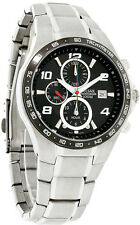 PULSAR SPORT CHRONOGRAPH DATE BLACK DIAL STAINLESS STEEL MEN'S WATCH PF8373 NEW