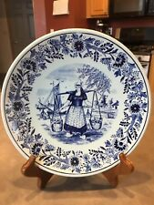 Vintage Blue Delfts Plate Royal Sphinx Maastricht Made in Holland by P. Regout
