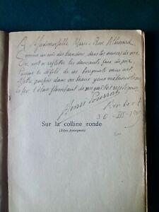 Henri Pourrat - Jean L'OLAGNE:Sur la colline ronde, rare E.O. 1912, poème envoi