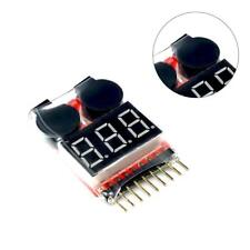 Pro RC Lipo Battery Low Voltage 1-8S Buzzer Indicator Checker Tester LE Alarm~