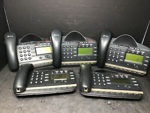Lot Of 5 Mitel Phones Model 4110 8 Lines. No Cords Or Stands. For Parts. JHC2