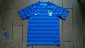 Football shirt soccer Brazil Brasil Away 2014/2015 Nike jersey Blue Kids Boys XL