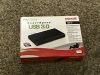 MAXELL 2.5'' 500GB Ultra Slim Portable External Hard Drive USB3.0 HDD Storage