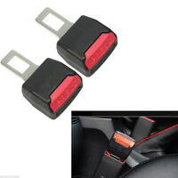2Pcs Universal Car Safety Seat Belt Buckle Clip Extension Extender Alarm Stopper