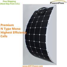 Semi Flexible Bendable 135w 135 Watt Lightweight Solar Panel 12v Battery OffGrid