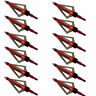 Lot Archery Broadheads 100 Grain 3 Blade For Compound Bow Crossbow Arrow Tips