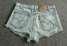 ☆LEVI DEMIN SHORTS DISTRESSED ACID WASH LOOK SIZE 30 FESTIVAL BEACH HOLIDAY!☆