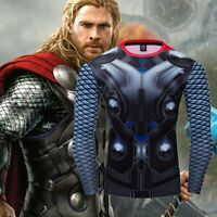 Avengers 1 Thor Costume Cosplay Compression Tights Quick-Drying T-shirt Tops