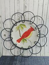 Vintage Hazel D Ammerman Red Cardinal Signed Porcelain Salt and Pepper Shaker Set