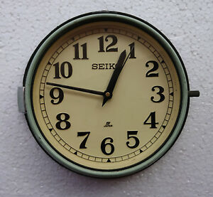 Vintage 1980's  Slave Maritime Clock Nautical Ship Seiko Quartz Made in Japan