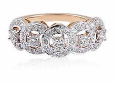 0.88 Cts Round Brilliant Cut Diamonds Engagement Ring In Fine Certified 14K Gold