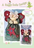 ANGELICA TREE TOP ANGEL - Felt Sewing Craft PATTERN - Xmas Christmas