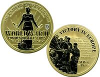 WW II VICTORY IN EUROPE CENTENNIAL COMMEMORATIVE PROOF COIN VALUE $99.95