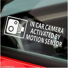 5 x Motion Sensor Activates In Car Camera Stickers Recording Taxi Security Signs