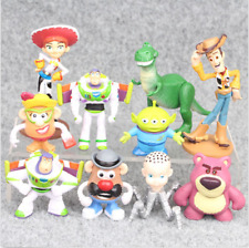 Toy Story Woody Buzz Lightyear Rex Alien Bear Figure Kids 10 PCS Gift Doll Toys