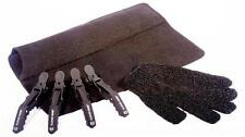 Heat Protective Glove, Black Heat proof Mat Travel & 4 x Cloud Clips For Hair