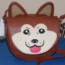 Women Cute Dog Crossbody/Messenger Bag Brown Color Sheba $25.- NWT Free/Ship