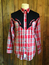 vtg PANHANDLE SLIM cowboy SHIRT medium 38 chest WESTERN rockabilly HIPSTER vgc
