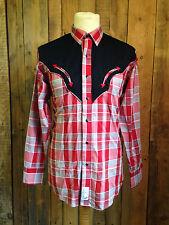 De Colección Panhandle Slim Camisa Vaquera Medio 38 pecho Occidental Rockabilly Hipster en muy buena condición