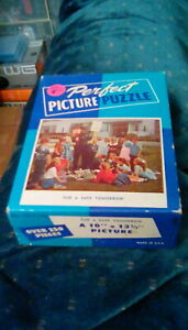 "antique 1940s Perfect Picture Puzzle For A Safe Tomorrow 10"" x 13 1/2"" (250+ pc)"