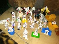 101 DALMATIONS PVC DISNEY STORE FIGURINES, NEW, MINT 3/4-3-1/2 inches tall