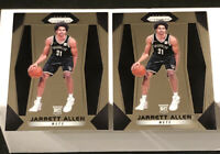 JARRETT ALLEN ROOKIE LOT(2) - 2017-18 Panini Prizm #154 RC BOTH CENTERED & MINT!