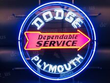 """New Dodge Dependable Service Plymouth Auto Neon Sign 24"""" with HD Vivid Printing"""